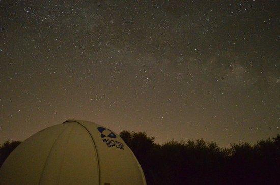 Mallorca Planetarium : Milkyway as seen over an observation dome