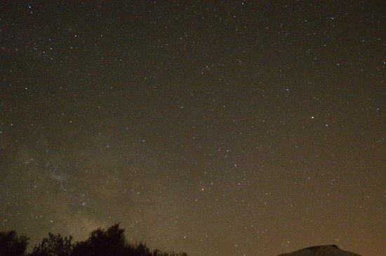 Mallorca Planetarium : Milkyway across bottom of photo
