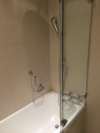Swissotel Le Plaza Basel : Salle de bain de la chambre double