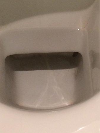 Swissotel Le Plaza Basel: Etat de la cuvette WC à mon arrivée