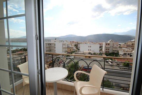 Nafsika Palace: Balcony view