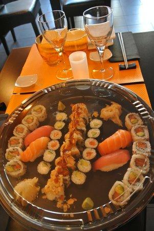 Coeur de Sushi : plateau à emportr