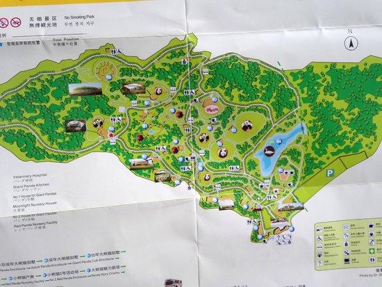 Giant Panda Breeding Research Base (Xiongmao Jidi): Park Map