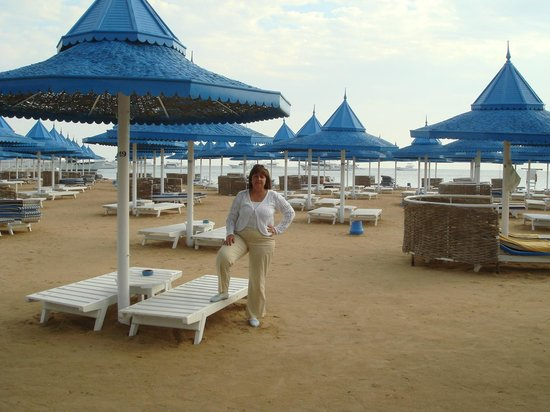 The Grand Hotel Hurghada: Пляж