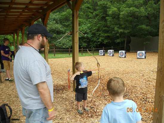 YMCA Trout Lodge: archery fun for the whole family!