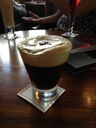 The Champagne Bar at ABode Canterbury: iced Irish coffee