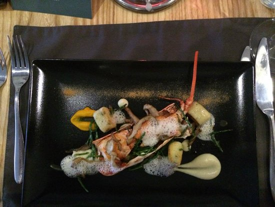 Corin on Mainstreet: Lobster with wild mushrooms and tarragon gnocchi