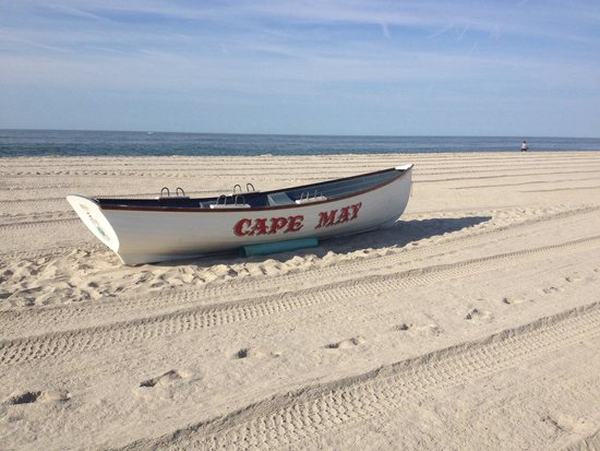 Cape May City Beaches: Morning view