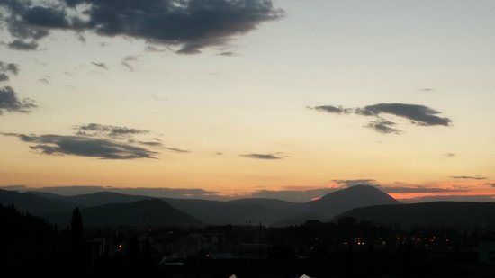 Ramada Podgorica: Sunset from the room
