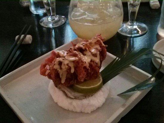 Damindra: ostra con tempura