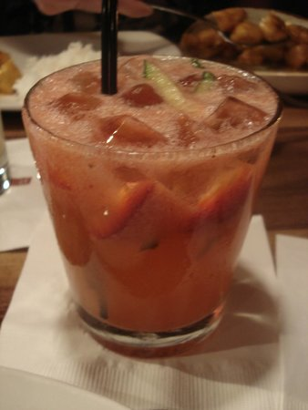 P.F. Chang's: strawberry/cucumber drink