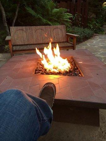 Glen Oaks Big Sur: Fire pit