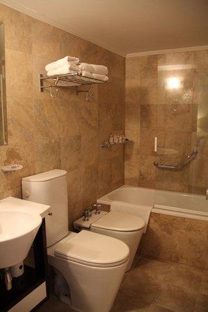 Huentala Hotel: Baño espacioso