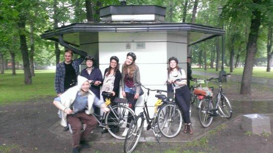 Seagulls Garret Hostel: Our bike tour with Gena and Sasha