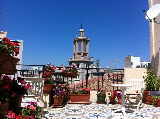 Hostal La Palma: Roof terrace