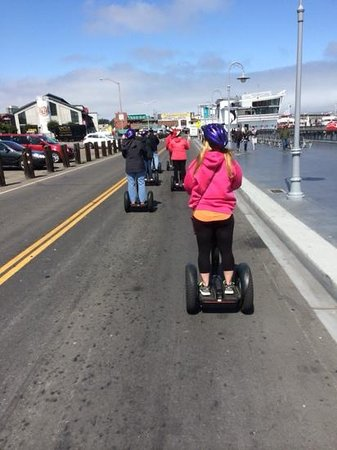 City Segway Tours San Francisco : cruising down the wharf