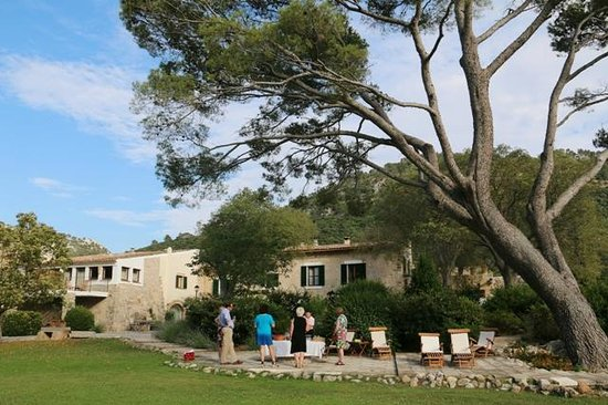 Finca Hotel Son Palou : Wine tasting in the garden of Son Palou