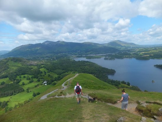 Catbells Lakeland Walk: View from the bottom of the final climb