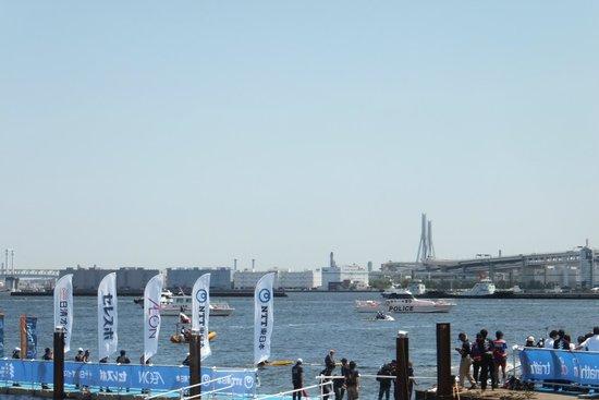 Yamashita Park: triatholon swim start point