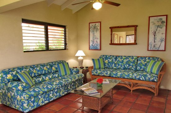 Harbour Club Villas & Marina: Comfortable couches and a sofa bed in each villa