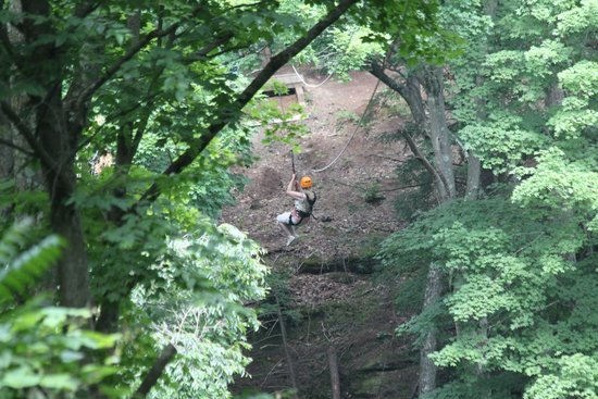 Soaring Cliffs Zip Line Course: ziplining!