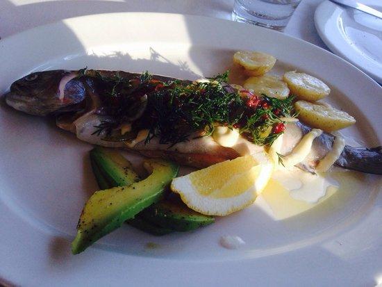 La Petite Ferme : Great trout.