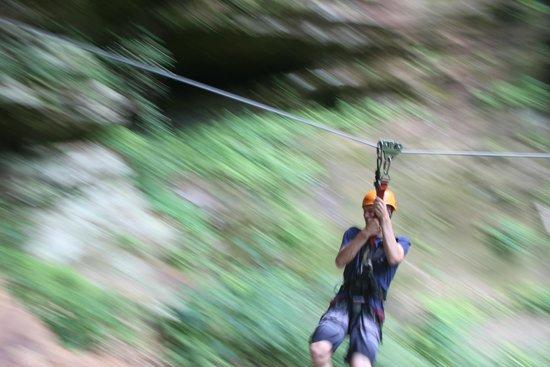 Soaring Cliffs Zip Line Course: ziplining!