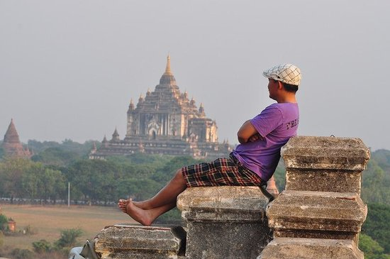 Bagan Temples: Duduk santai menunggu sun set