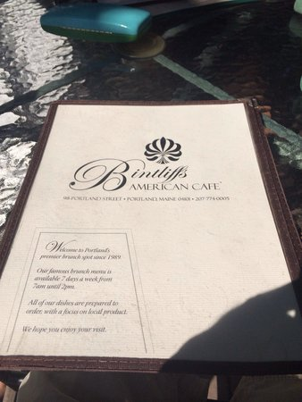 Bayside American Cafe: The menu of delicious food