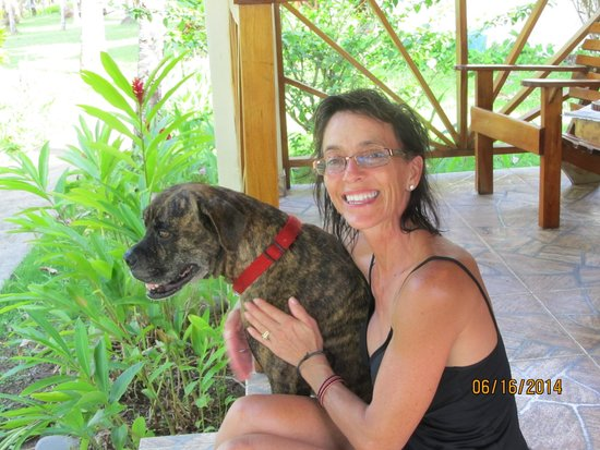 Hooked On Panama Fishing Lodge : Te, my favorite dog of the resort!