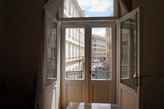 Prague City Apartments Residence Karolina: view from dining room