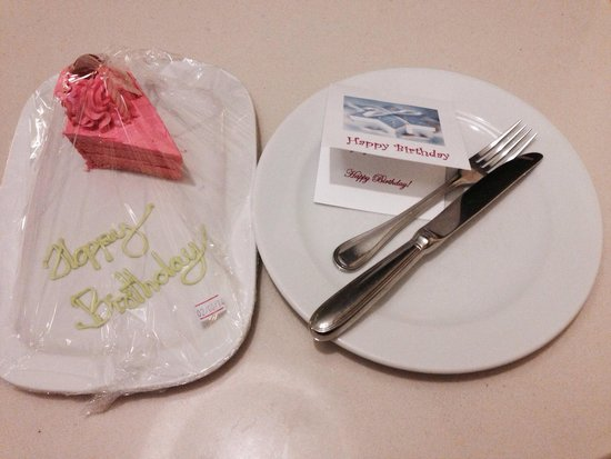 Deevana Plaza Phuket Patong : My birthday cake, given by Mercure