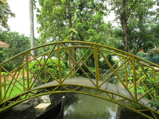 Coconut Creek Farm and Homestay : nice bridge in the homestay