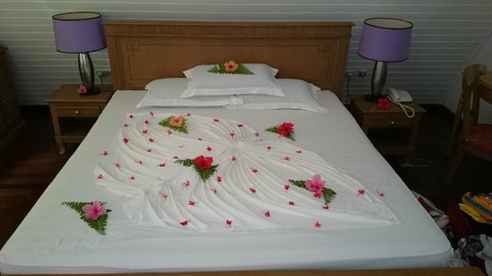 La Digue Island Lodge : le lit