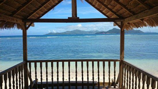La Digue Island Lodge : vu du restaurant