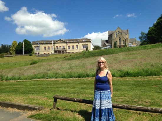 Shrigley Hall Hotel & Spa: Mum in the grounds - hotel in the background