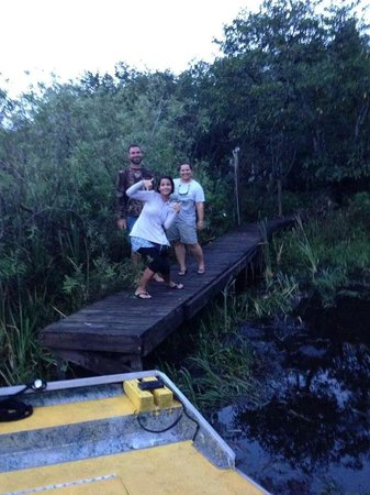 Mack's Fish Camp - Tours: stop at one of the tree island at the everglades