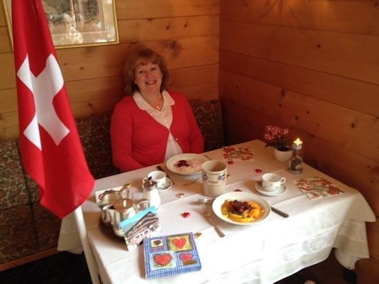 Hotel Gletschergarten: Our special anniversary breakfast