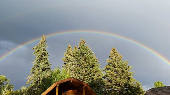 Bear Lake/Garden City KOA Campground: After the storm rolled through we were treated to a beautiful rainbow.
