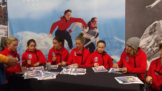 Utah Olympic Park: Team signing autographs
