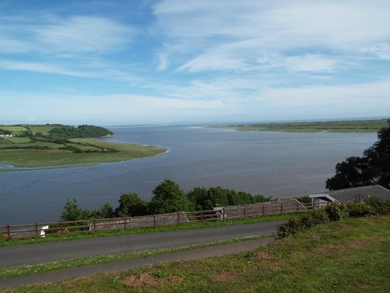 Laugharne: View across the estuary from the bungalow