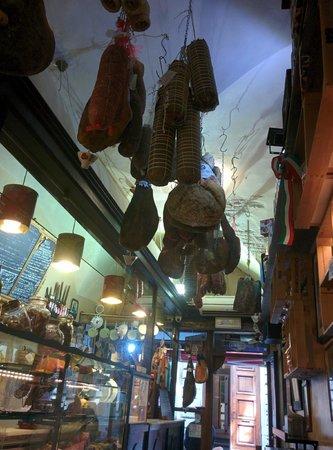 La Prosciutteria Firenze : Meat Hanging in La Prosciutteria