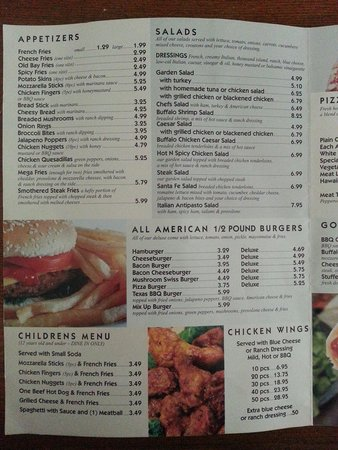 Wilson, NC: Menu prices