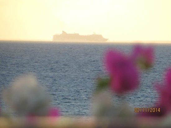 Grand Velas Riviera Maya: A cruise ship heading to Cozumel.