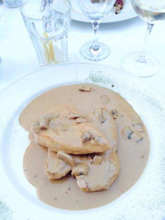 Los Abanicos: Mushroom sauce chicken