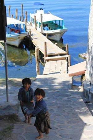 San Antonio Palopo: The town dock at San Antonio Palopó