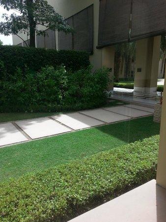 Trident, Gurgaon: this is their garden