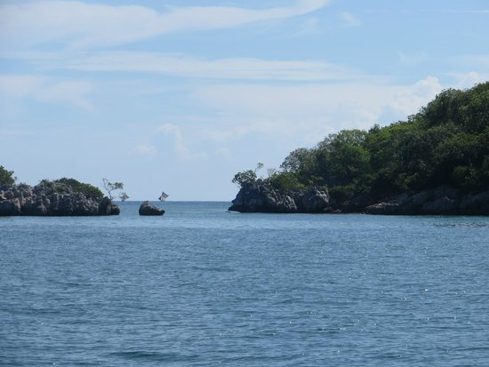 Labadee: Inside Paradise Cove. See the little ships coming in