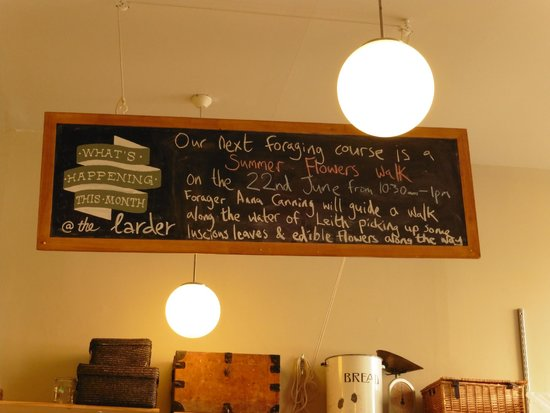 Edinburgh Larder Cafe: offerings through the restaurant