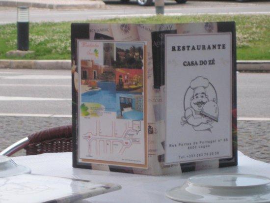 Casa De Pasto O Ze: menu